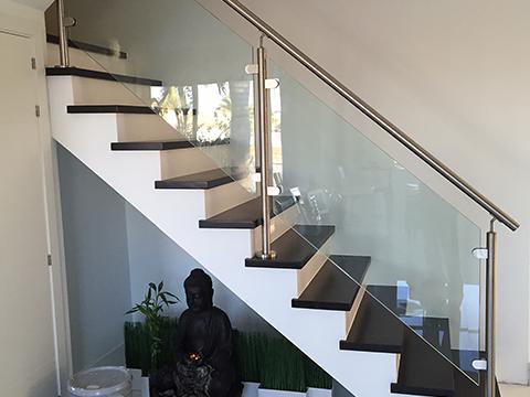 Instalacion de barandas y escaleras en miami - Baranda de cristal ...